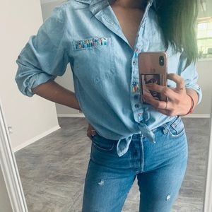 Vintage Westbound Denim Top